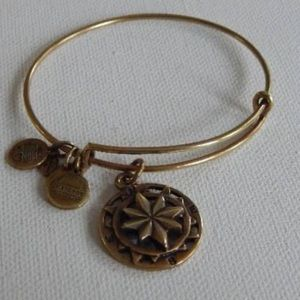 Gold compass Alex and ani bracelet